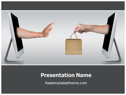 Free unhappy online shopping powerpoint template slide1g toneelgroepblik Image collections