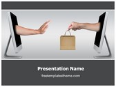 Free Unhappy Online Shopping PowerPoint Template Background, FreeTemplatesTheme