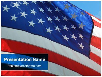 Free usa flag powerpoint template freetemplatestheme slide1g toneelgroepblik Choice Image