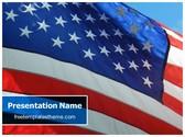 Free USA Flag PowerPoint Template Background, FreeTemplatesTheme