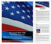 Free USA Flag Word Template Background, FreeTemplatesTheme
