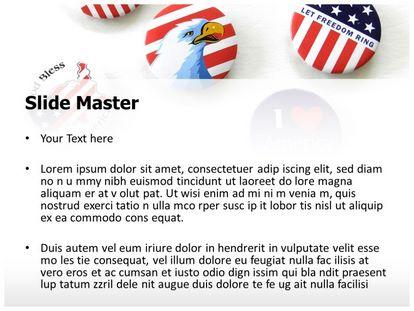 Free Usa Patriotic Spirit Powerpoint Template Freetemplatestheme