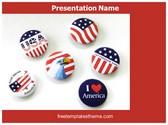 Free USA Patriotic Spirit PowerPoint Template Background, FreeTemplatesTheme