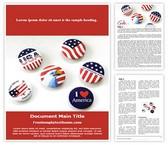 Free USA Patriotic Spirit Word Template Background, FreeTemplatesTheme