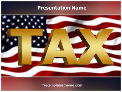 Free Usa Tax Powerpoint Template Freetemplatestheme
