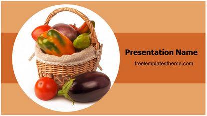 Vegetable Basket Free PPT Template Theme Widescreen FreeTemplatesTheme