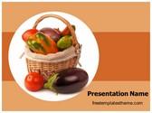 Free Vegetable Basket PowerPoint Template Background, FreeTemplatesTheme