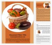 Free Vegetable Basket Word Template Background, FreeTemplatesTheme