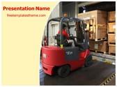 Free Warehouse Forklift PowerPoint Template Background, FreeTemplatesTheme