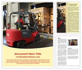 Free Warehouse Forklift Word Template Background, FreeTemplatesTheme