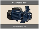 Free Water Pump Motor PowerPoint Template Background, FreeTemplatesTheme