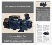 Free Water Pump Motor Word Template Background, FreeTemplatesTheme