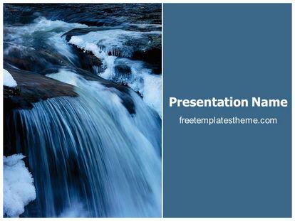 Free Waterfall Powerpoint Template Freetemplatestheme Com