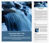 Free Waterfall Word Template Background, FreeTemplatesTheme