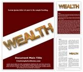 Free Wealth Word Template Background, FreeTemplatesTheme