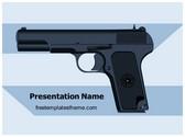 Free Weapon Pistol Revolver PowerPoint Template Background, FreeTemplatesTheme