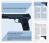Free Weapon Pistol Revolver Word Template Background, FreeTemplatesTheme