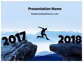 Free Welcome 2018 PowerPoint Template Background, FreeTemplatesTheme