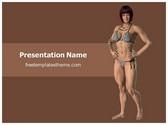 Free Women Wrestler PowerPoint Template Background, FreeTemplatesTheme