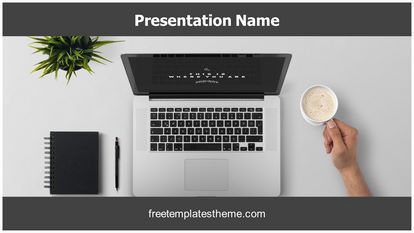 Work Desk Free PPT Template Theme Widescreen FreeTemplatesTheme