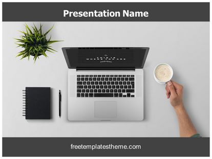 Free work desk powerpoint template freetemplatestheme slide1g toneelgroepblik Gallery