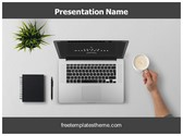 Free Work Desk PowerPoint Template Background, FreeTemplatesTheme