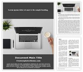 Free Work Desk Word Template Background, FreeTemplatesTheme