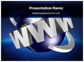Free WWW Internet PowerPoint Template Background, FreeTemplatesTheme