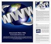 Free WWW Internet Word Template Background, FreeTemplatesTheme